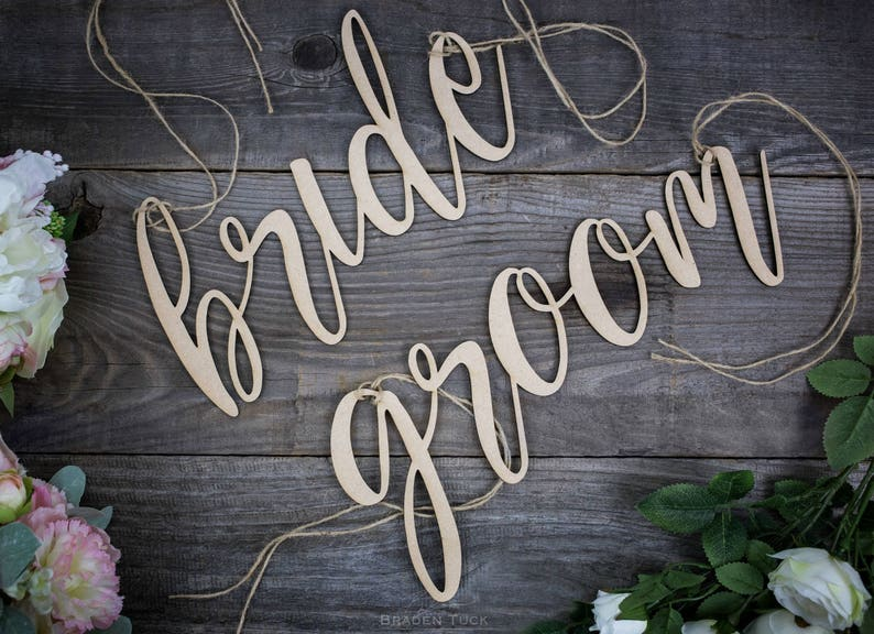 Chair Signs Wedding Chair Signs Wedding Signs Bride and image 0