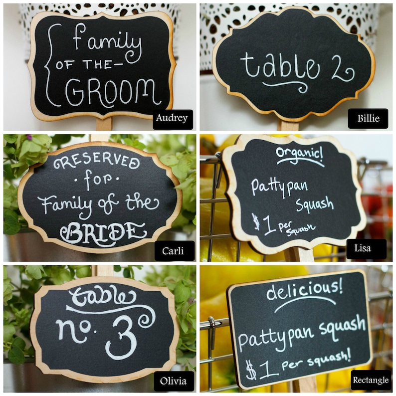 Chalkboard Clips Farmers Market Signs 12 Small Signs Coffee image 0