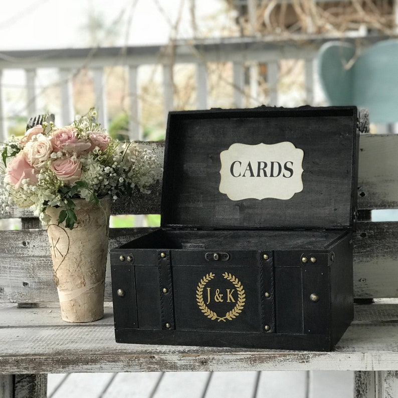 Personalized Wedding Card BoxRustic Card Box Wedding Card image 0