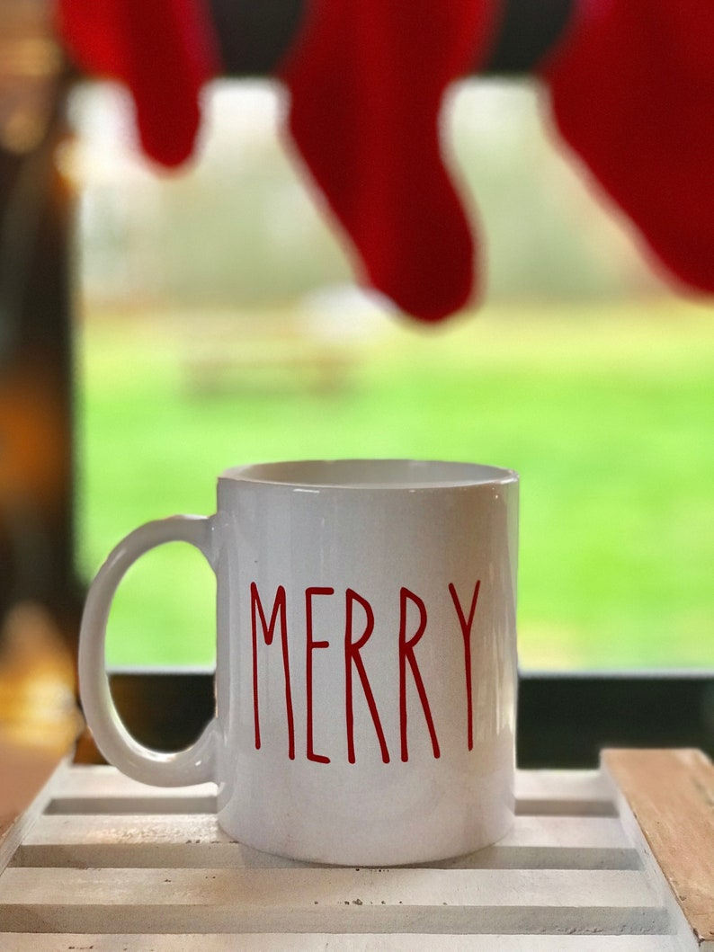 Farmhouse Christmas Decals Ornament Decal Set Mug Labels image 0