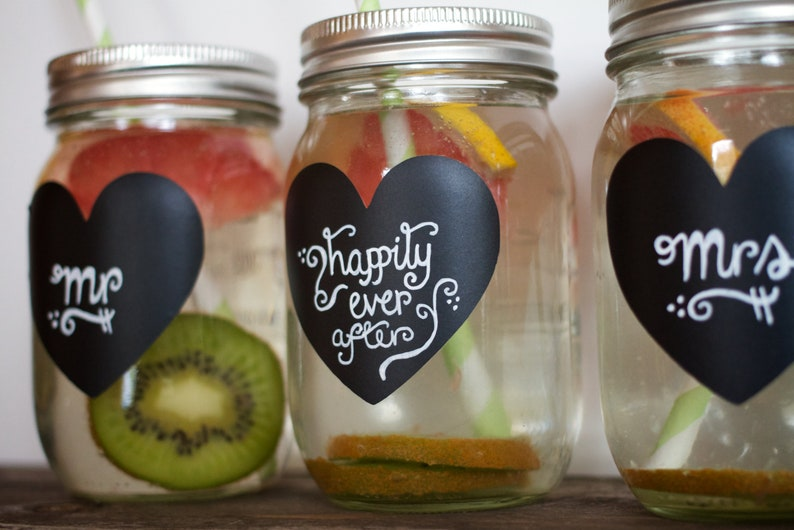 Wedding Mason Jar Labels Chalkboard Label for Mason Jars 100 image 0