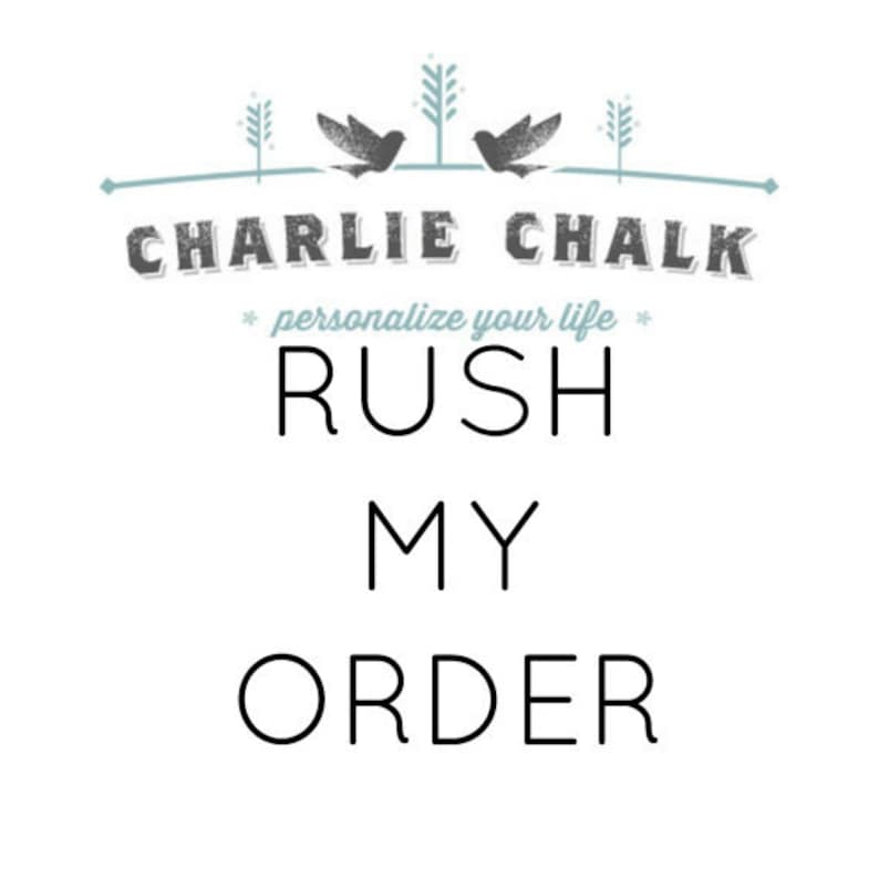 RUSH ORDER FEE  Read Description to see what you are image 0
