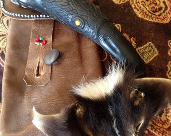 Raven Drinking Horn with Case. Order Yours Today!!