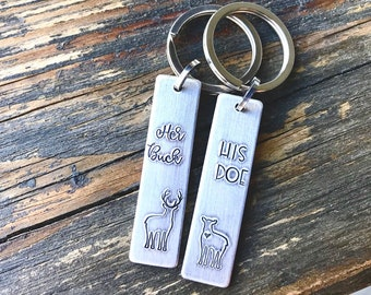 The Original Her Buck and His Doe Realtree Camo Leather Key Chains the original creator of Buck /& Doe Gifts