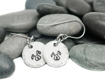 Hand Stamped Earrings - Bunny Lover - Rabbit Gift - Personalized Jewelry - Easter Earrings - Bunny Gift