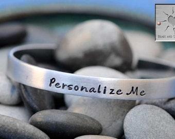 Customized Bracelet - Personalized Jewelry - Quote Jewelry - Stackable Bracelet - Best Friend Gifts - Inspirational Jewelry