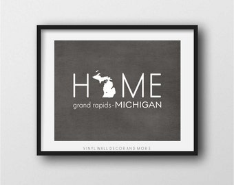 Michigan Print- Grand Rapids