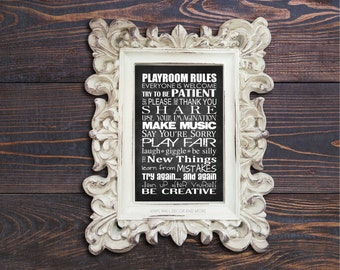 Playroom Rules Print