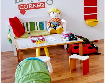 Playroom Decal- Reading corner