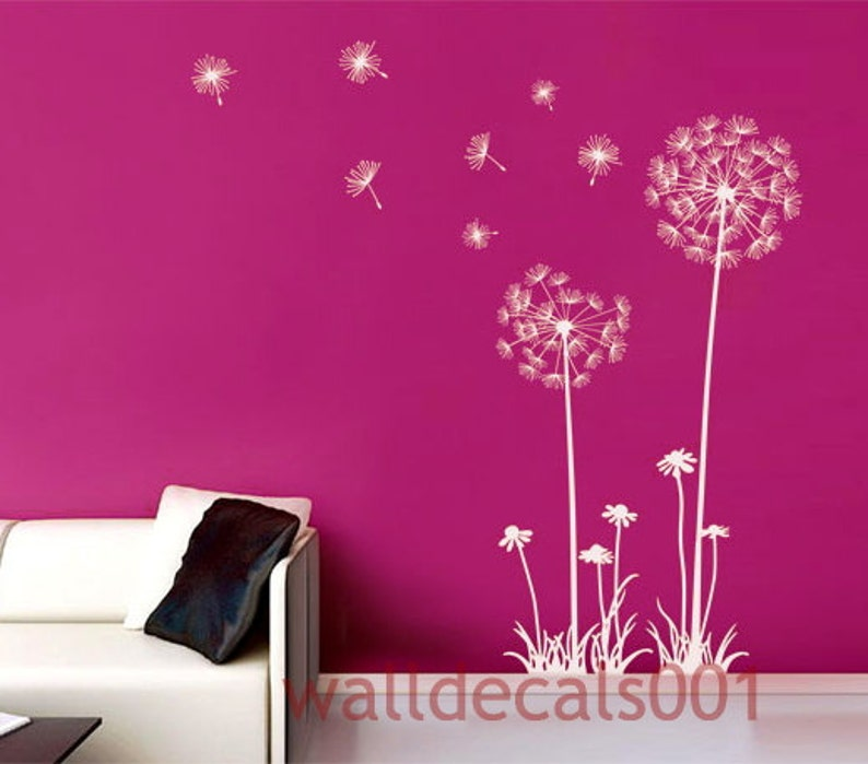 Dandelions Wall Decal Wall Stickers Dandelions 60 tall | Etsy
