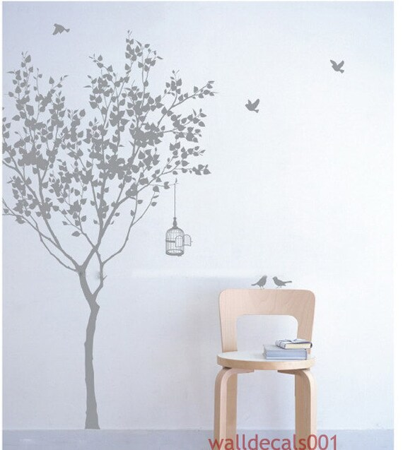Vinyl Wall Decals Tree Decals Room Decor Wall Stickers Wall Etsy