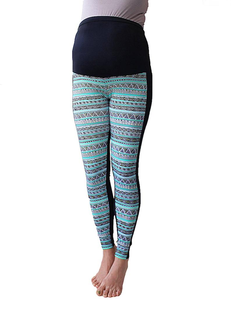 a4b110bc5a2d6 Maternity leggings Duo multicolouredChevron stripes | Etsy
