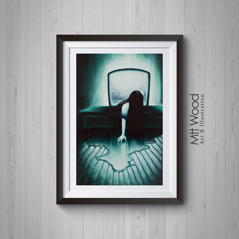 The Ring Print  Samara/Sadako She Never Sleeps Painting image 0