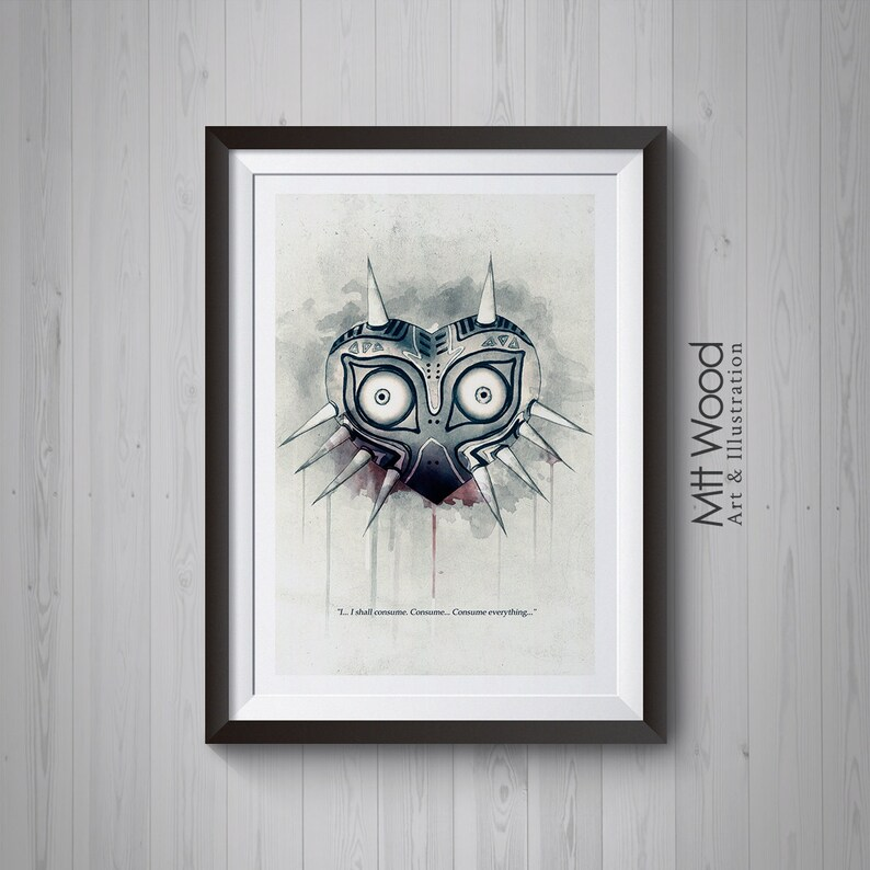 Zelda Print  Majora's Mask Consume Everything Artwork image 0