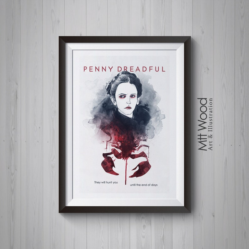 Penny Dreadful Print  Vanessa Ives They Will Hunt You Poster image 0