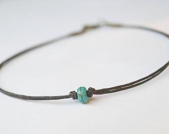 BraceletAnklet Handmade Minimalist Turquoise Beads Design for MenWomen Sleek Minimalist Unisex Surfer Men BraceletAnklet Tribal Retro