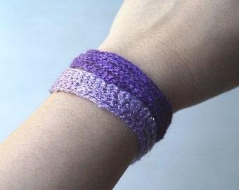 You Choose - Purple Ombre Wrap Bracelet Bohemian Yoga Unique Braided Cotton Thread Cord Crochet Bracelet Ombre Wrap Bracelet