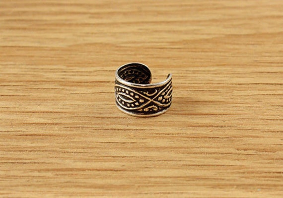 Details about  /HANDMADE Tribal Design Tattoo Overlaid Silver Cuff Sterling Bracelet