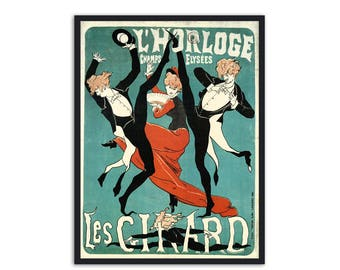 Beautiful Era Rare Vintage French poster by Cheret Jules, P058