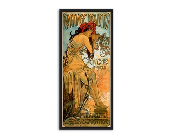 "Art Nouveau poster by Alphonse Mucha - ""Carriage Dealers""- Alphonse Mucha reproduction"