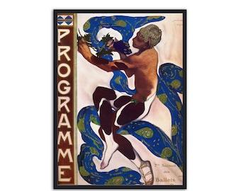 Art nouveau poster - Art nouveau print - by Leon Bakst - Ballets Russes, P008