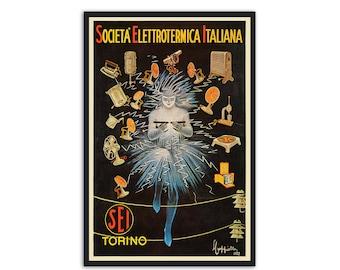 Vintage Italian Beautiful era Poster by Leonetto Cappiello,P055