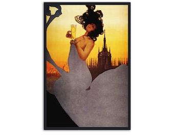 Milan Beer Vintage Poster - Art Nouveau advertisement - Art Nouveau print, P015