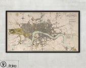 Framed print - Old map - London, 064