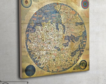 Old map - World map (1450) - Canvas - Fra Mauro, 103
