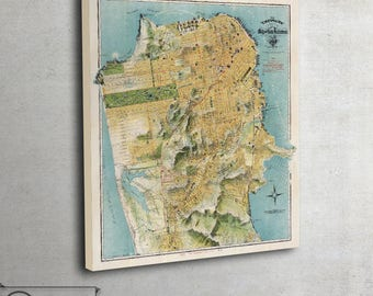 Old map - August Chevalier - wall art - map of San Francisco (1912), 096