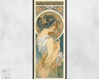 Art nouveau poster - Alphonse Mucha - Art nouveau print - Primrose
