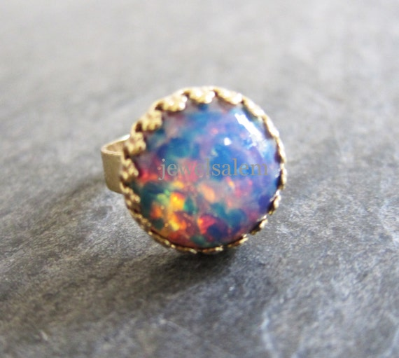 Items Similar To Opal Ring Exquisite Braided Opal: Items Similar To Fire Opal Ring Pink Opal Lilac Blue Gold