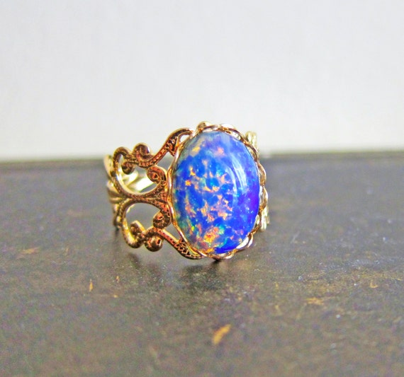 Items Similar To Opal Ring Exquisite Braided Opal