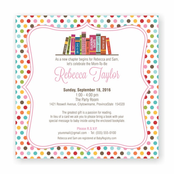 Book theme baby shower invitation bring a book invite build etsy image 0 filmwisefo
