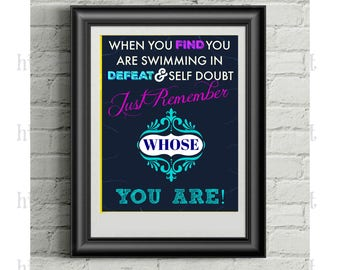 Christian Wall Art, Encouraging, Inspirational Cards, Art, Remember Whose You Are! Christian Printable, Digital Downloads, All Sizes, SVG,