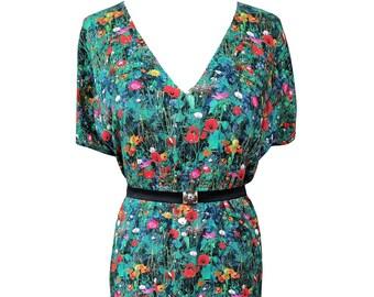 Floral Oversized Summer Dress, Floral Shift Summer Dress, Plus Size Dress, Loose Fit Floral Dress, Floral Day Dress