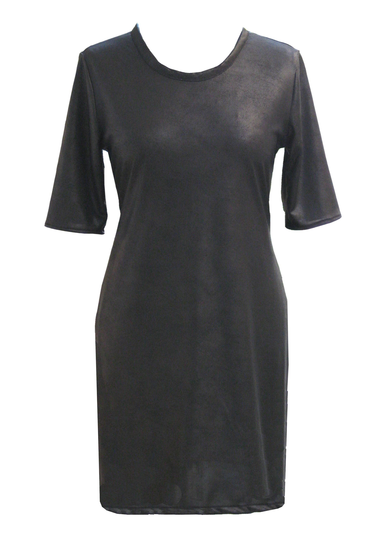 Black Leather Dress Faux Leather Plus Size Little Black | Etsy