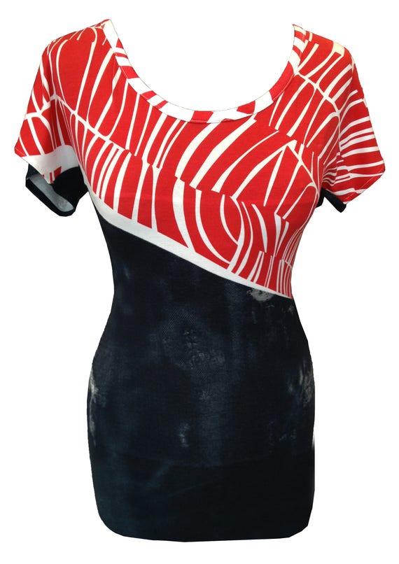 1c81944e6bb Geometric Print Shirt Plus Size Shirt Short Sleeves Shirt