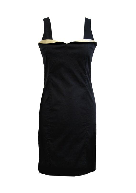 Little Black Dress Black And Gold Plus Size Dress Party Etsy