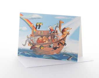 "Greetings card: ""Noah's ark"" Size A5 with envelope"
