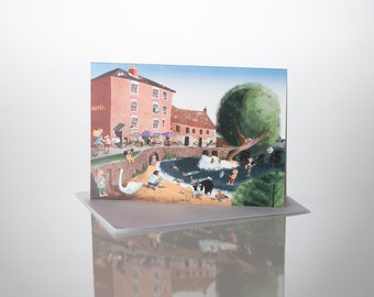 Old Mill -A5 greetings card