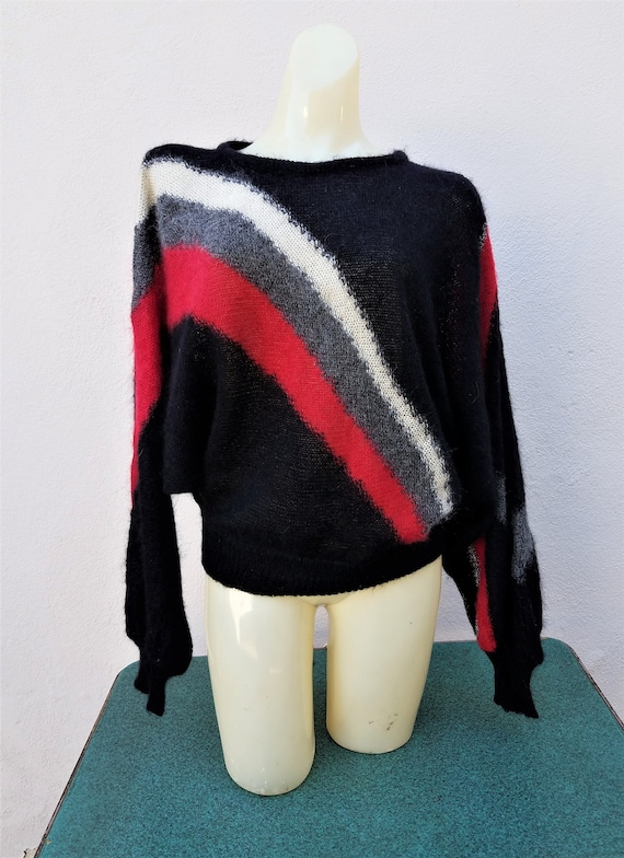 vintage 80s Escada mohair batwing sweater
