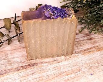 ZEN BAR-  LAVENDER Luxury Goat Milk Soap, Natural Handmade Soap, Valentines Gift