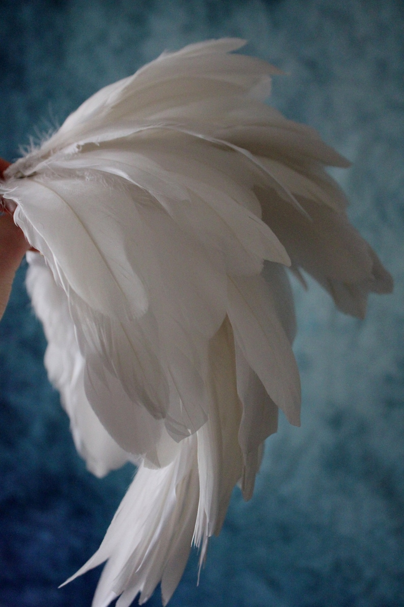 feather shoulders White feather epaulette shoulder pieces white  wings