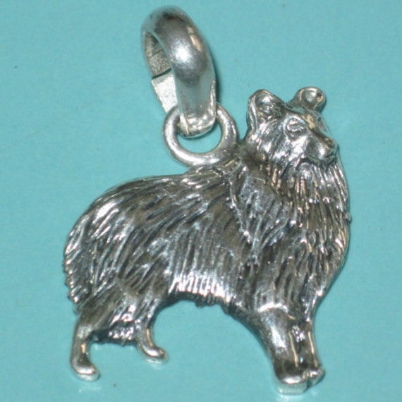 1990s Fine Arf Sterling Silver 925 COLLIE DOG Char