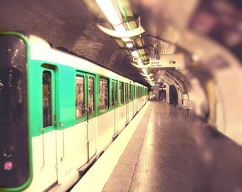 Paris Photography, Paris Metro Photography, Paris Art Print, Paris Metro Wall Art, Vintage Look, Sepia