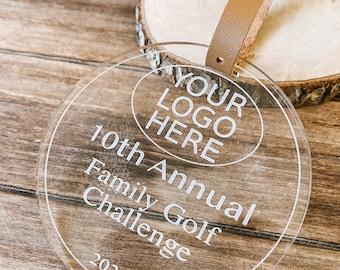 Custom Logo*  Circle Golf Bag Tag| Personalized  | Golf Competition | Golf Award |