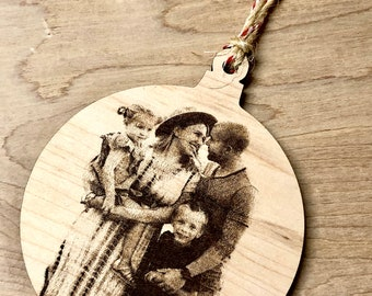 Custom Holiday Ornament | Christmas Tree| Wedding Gift | Family gift | Picture Ornament