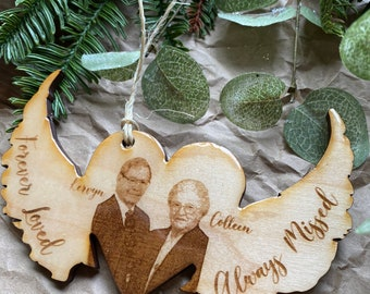 Remembrance Ornament | Christmas Tree| Wedding Gift | Family gift | Picture Ornament| In loving memory