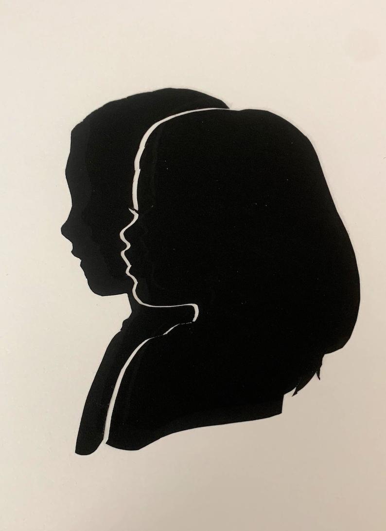 Custom Double Subject Silhouette Portraits image 0
